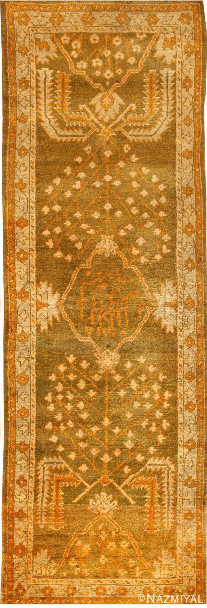 Antique Oushak Turkish Rug 42997 Nazmiyal