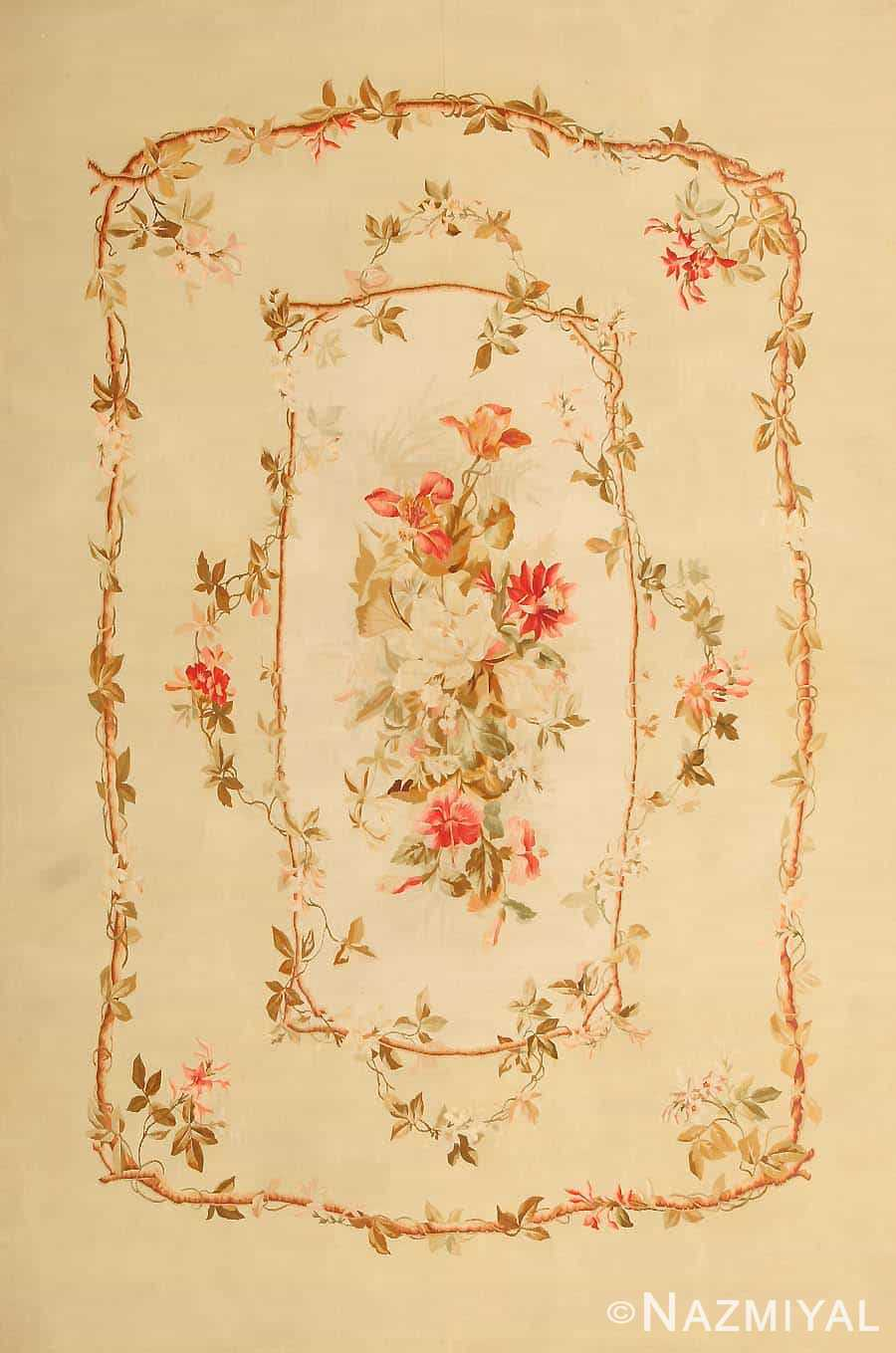 Antique French Aubusson Carpet 43802 By Nazmiyal