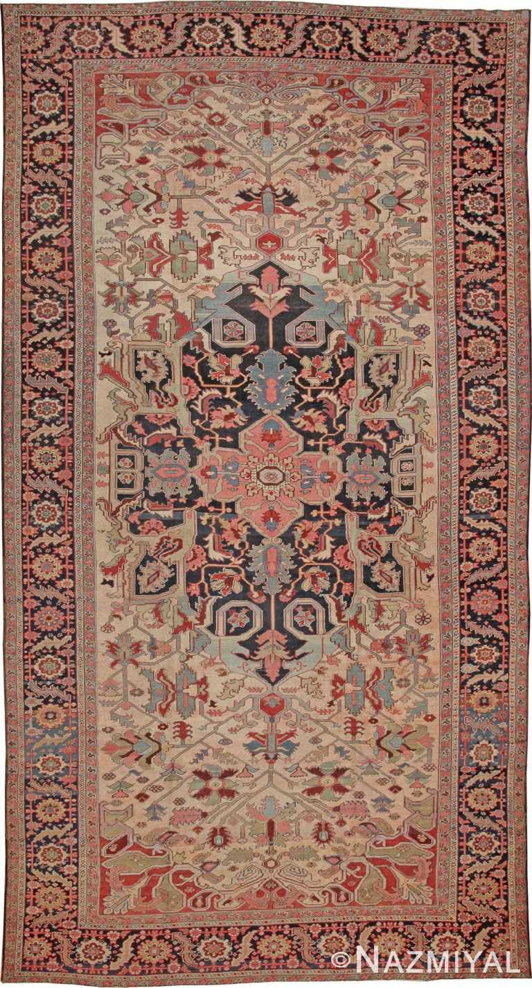 Antique Heriz Serapi Persian Rugs 44085 Nazmiyal