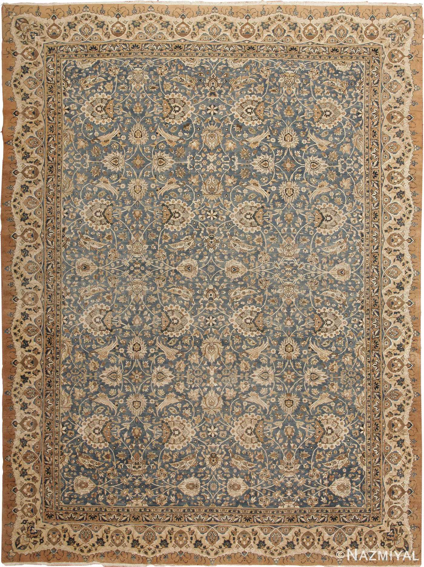Antique Tehran Silk and Wool Persian Rug 44109