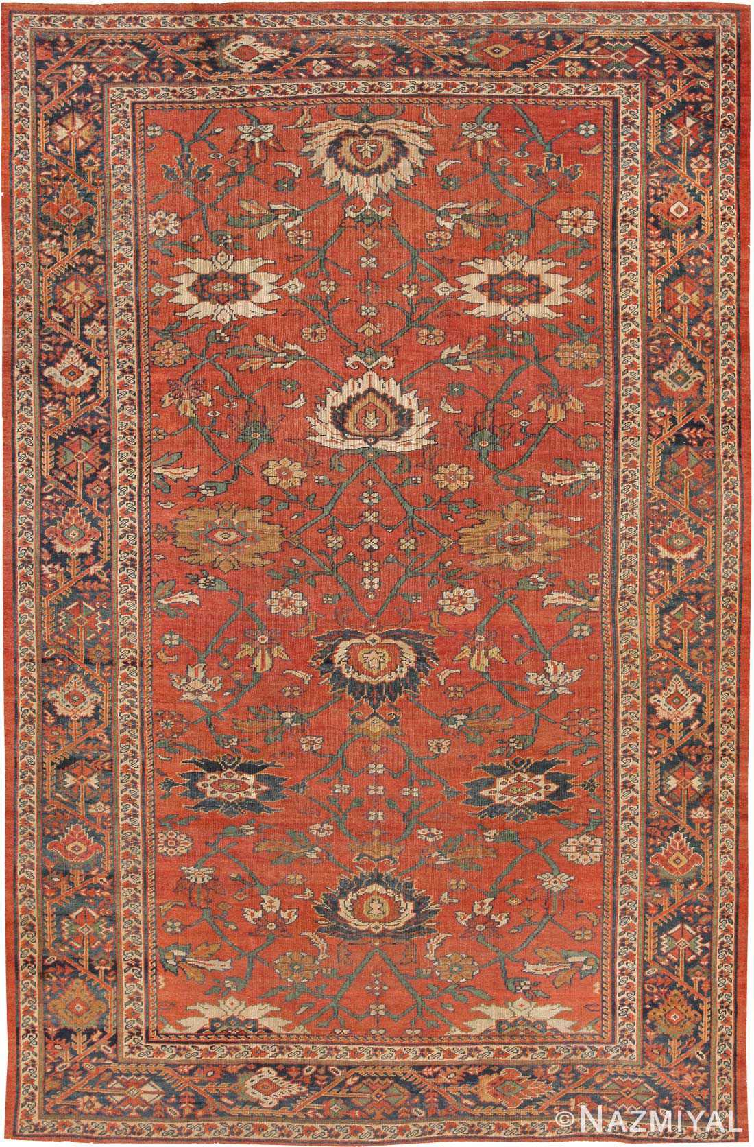 Antique Sultanabad Rug 44148 Nazmiyal