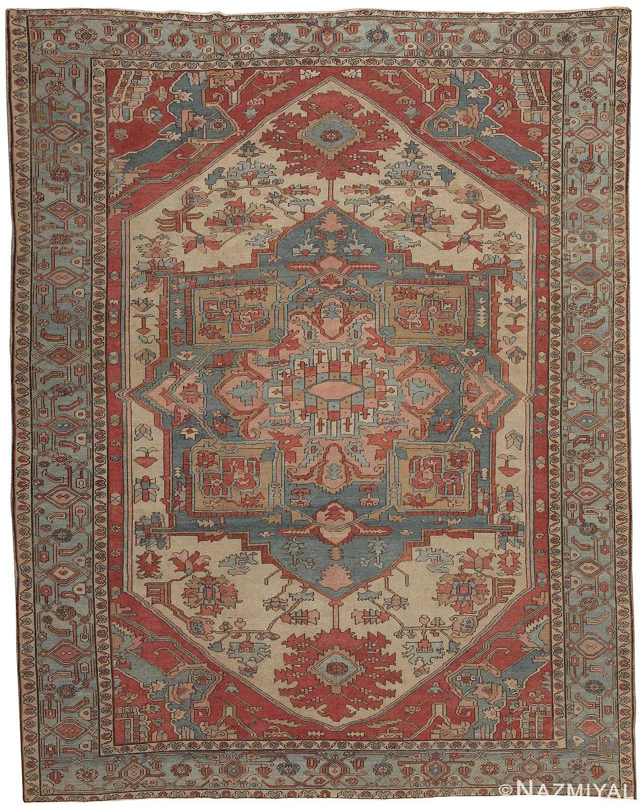 Antique Heriz Serapi Persian Rug 44537 Nazmiyal