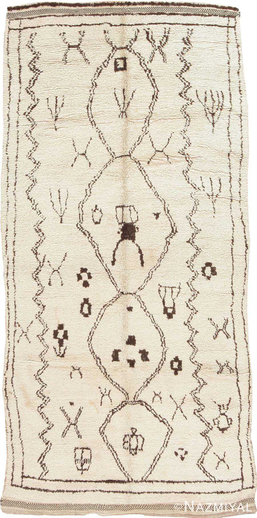 Antique Moroccan Rug #44586 Detail/Large View