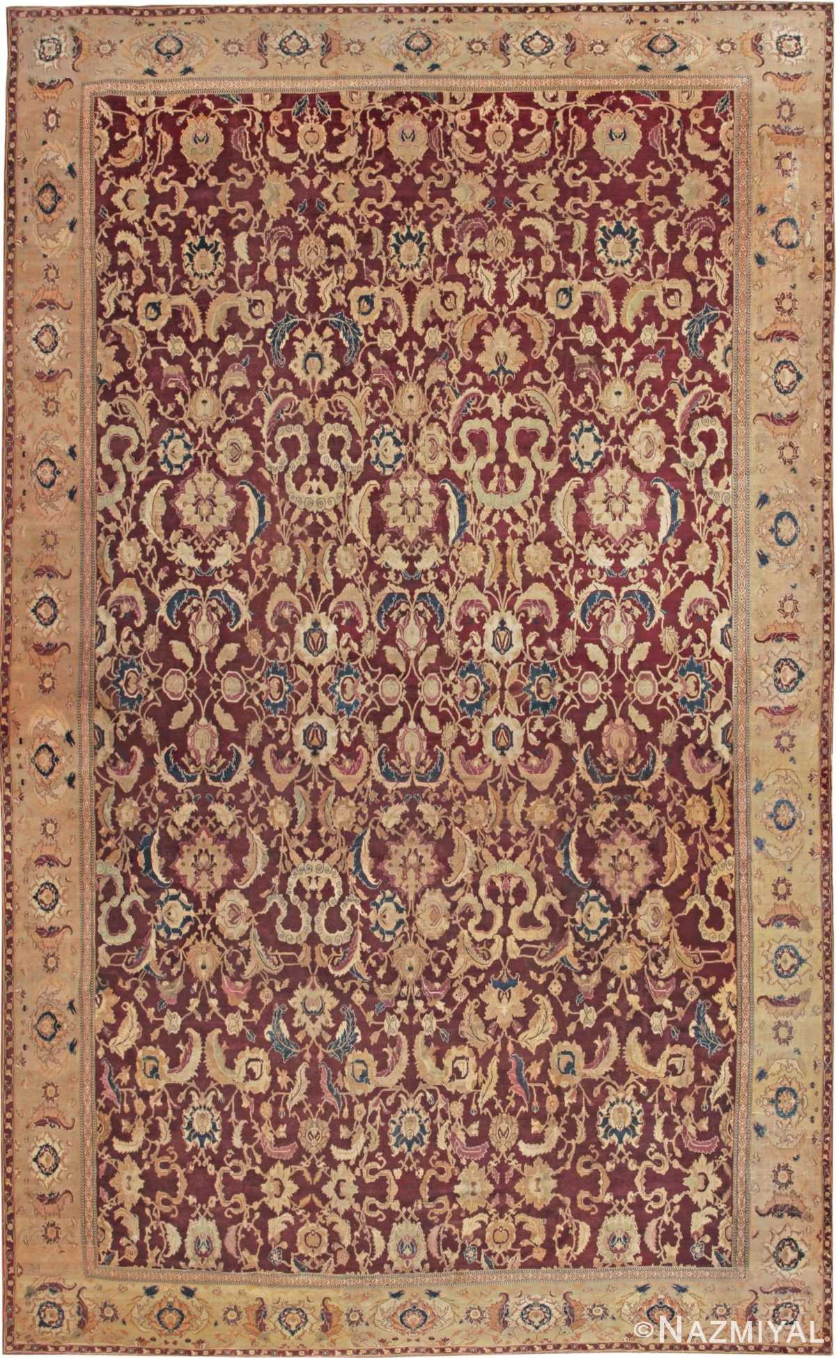 Picture of an Antique Agra Oriental Rug 44601 Nazmiyal Antique Rugs in NYC