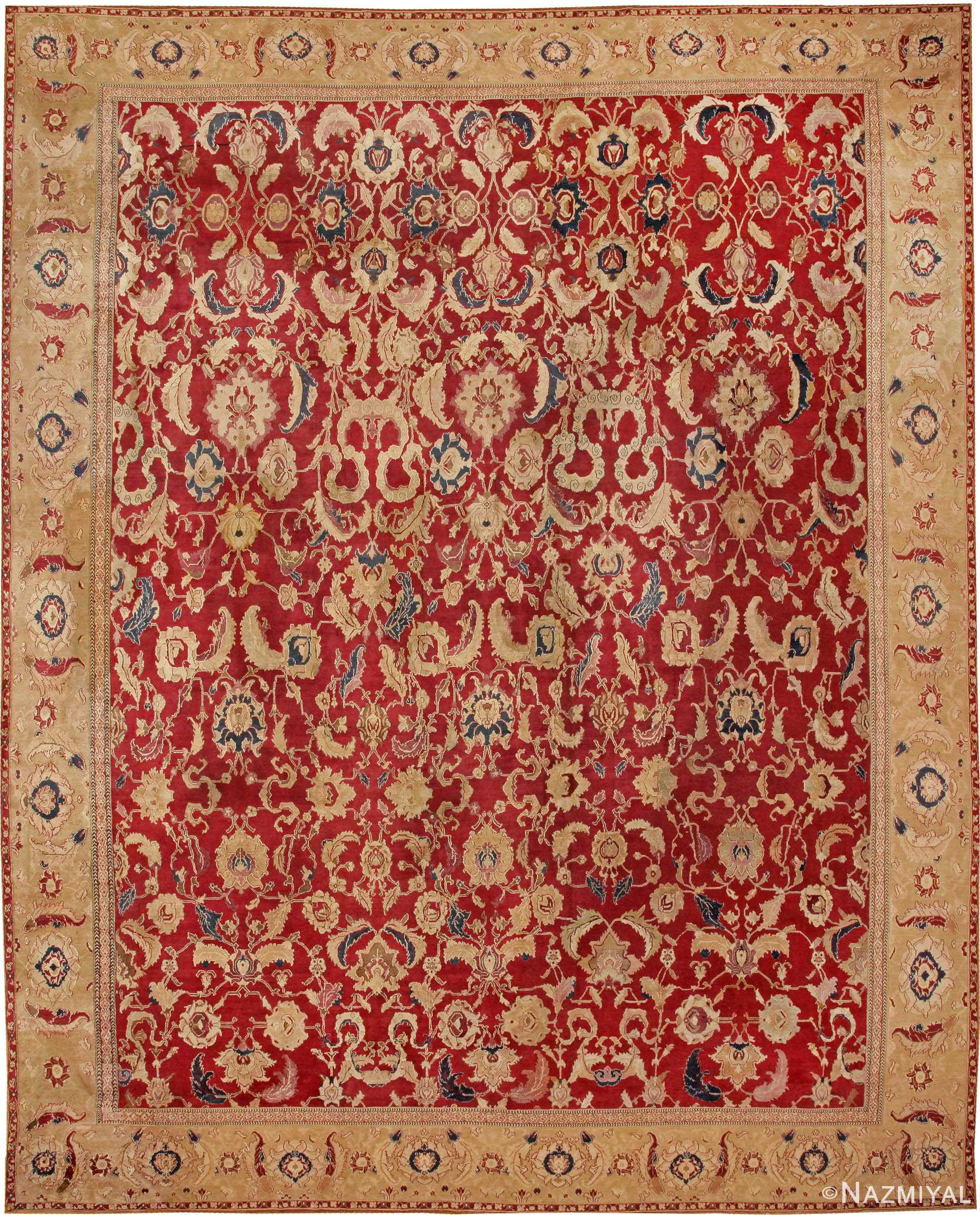 Antique Oriental Agra Carpet 44602 By Nazmiyal