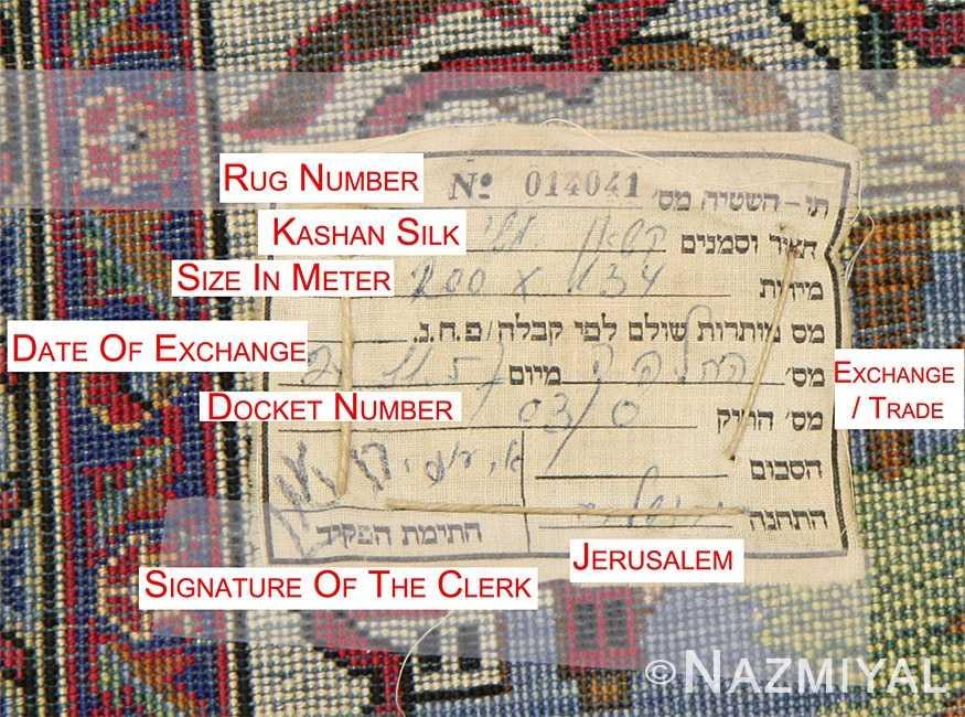 Antique Silk Kashan Persian Rug 45067 Words