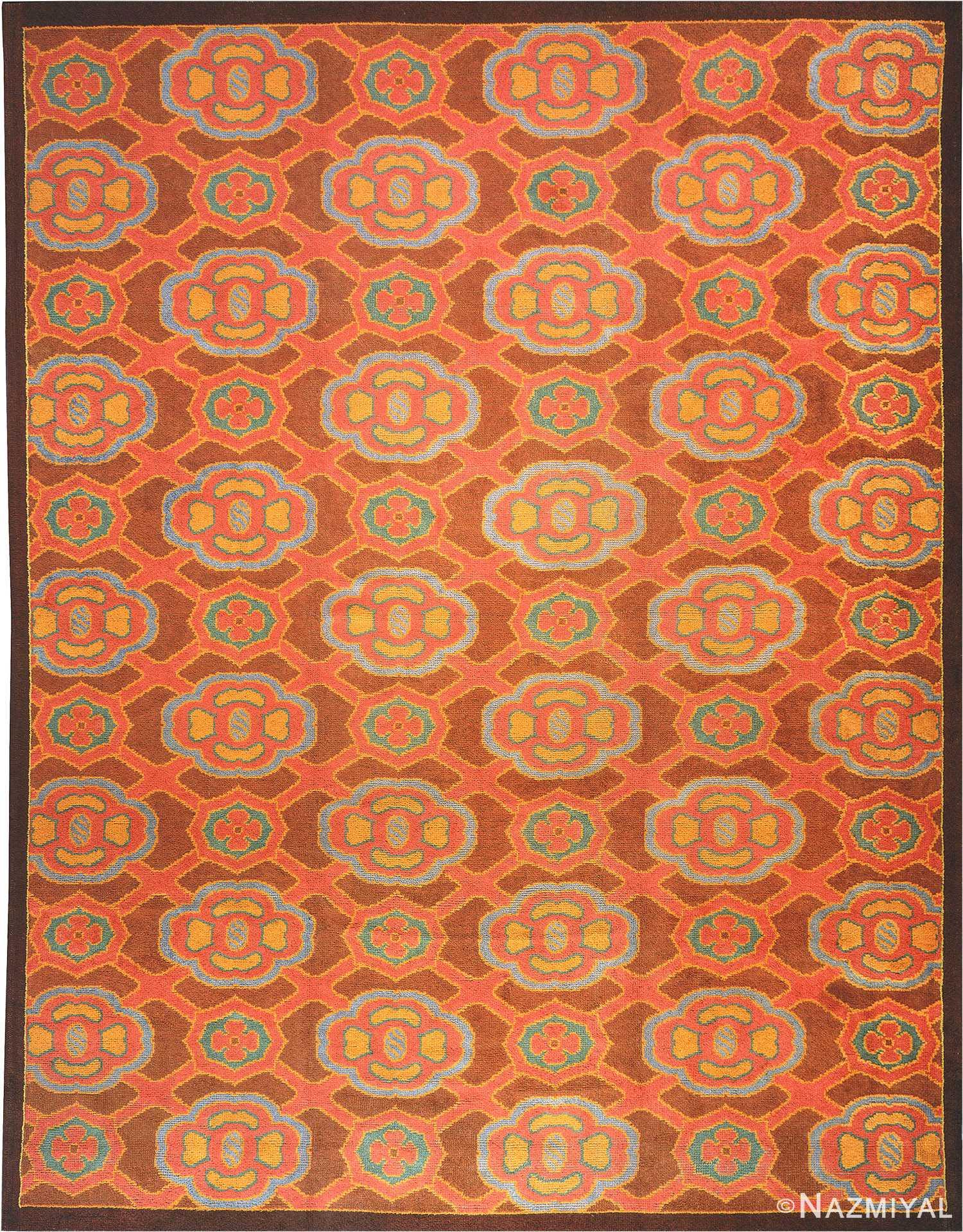 Vintage Deco French Rug 899 Nazmiyal
