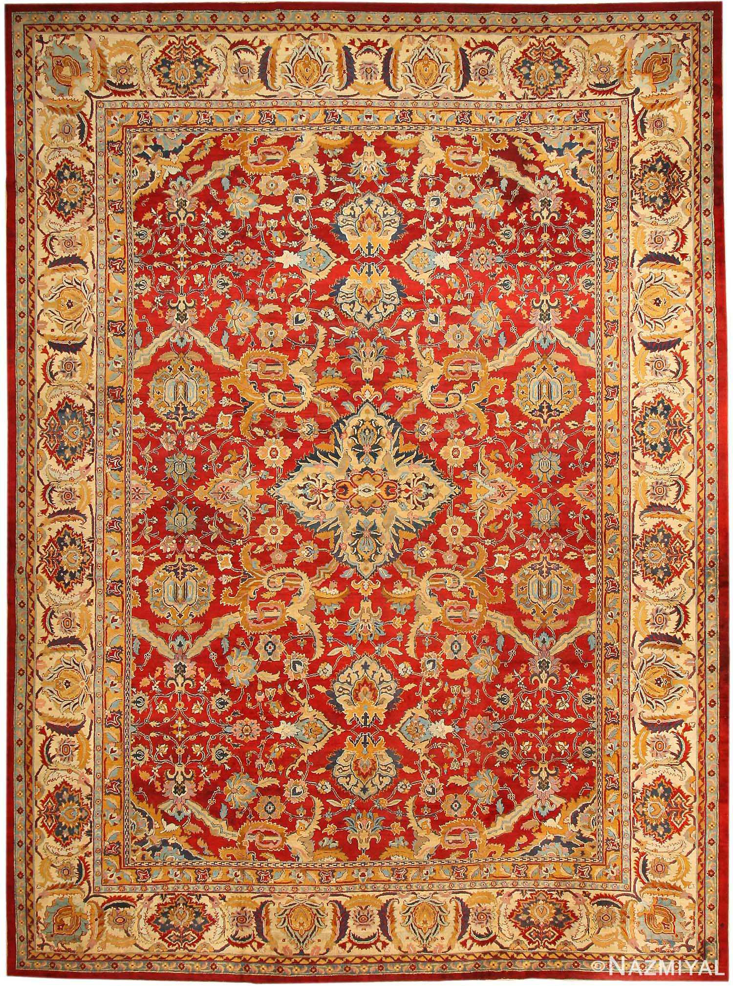 Antique Agra Oriental Rugs 43613 Nazmiyal