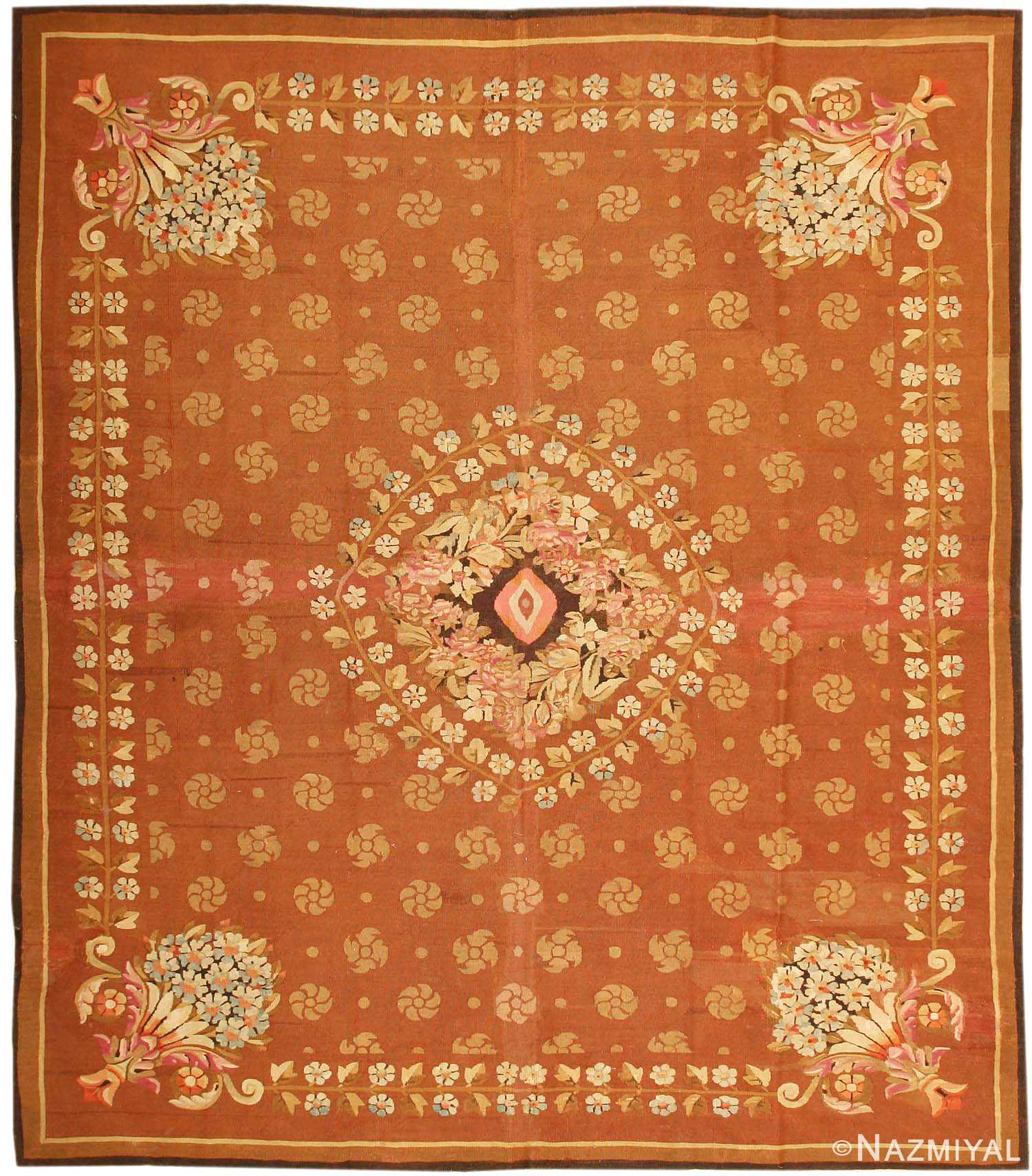 Antique Aubusson French Rug 43631 Nazmiyal
