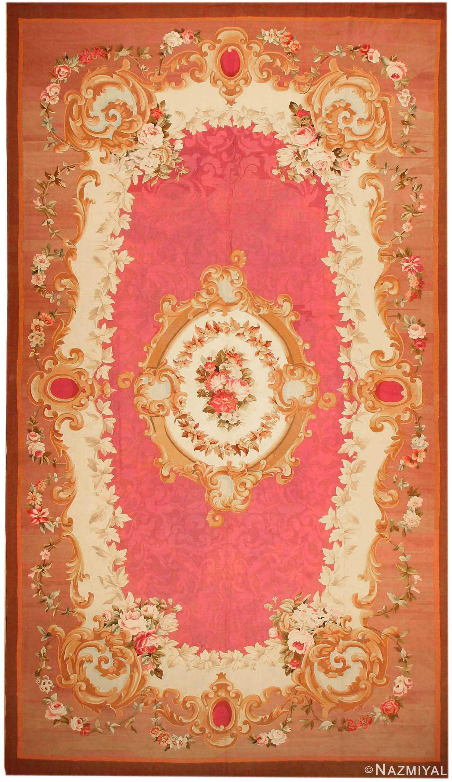 Aubusson Rug 43636 Nazmiyal Antique Rugs