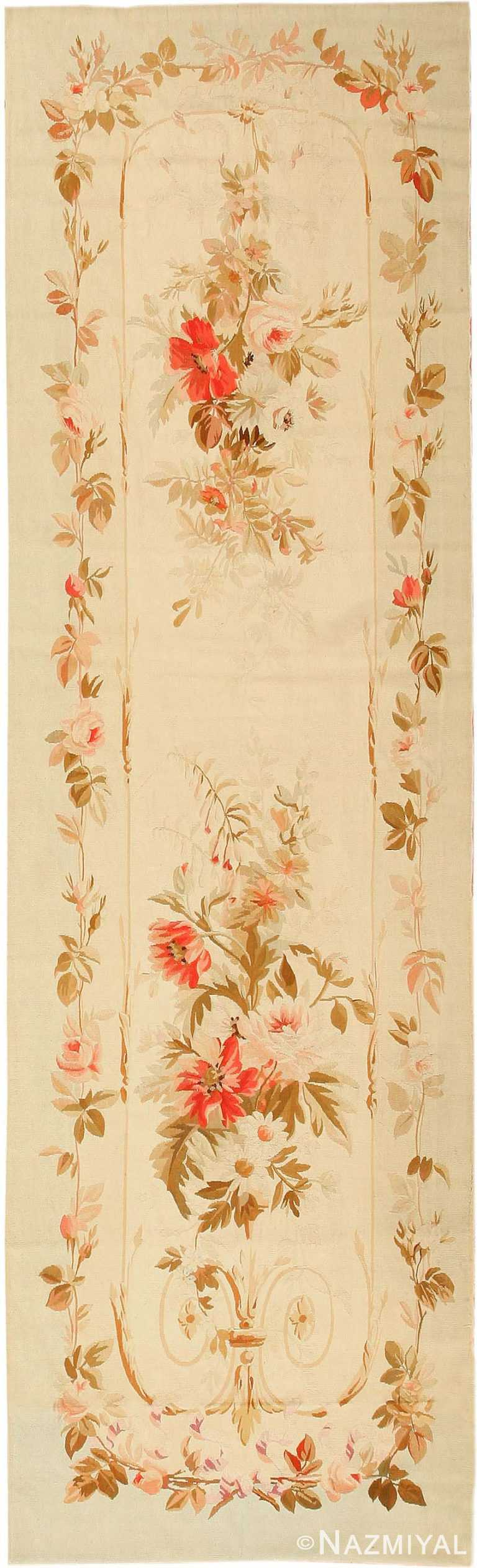 Antique French Aubusson Runner Rug 2855 by Nazmiyal