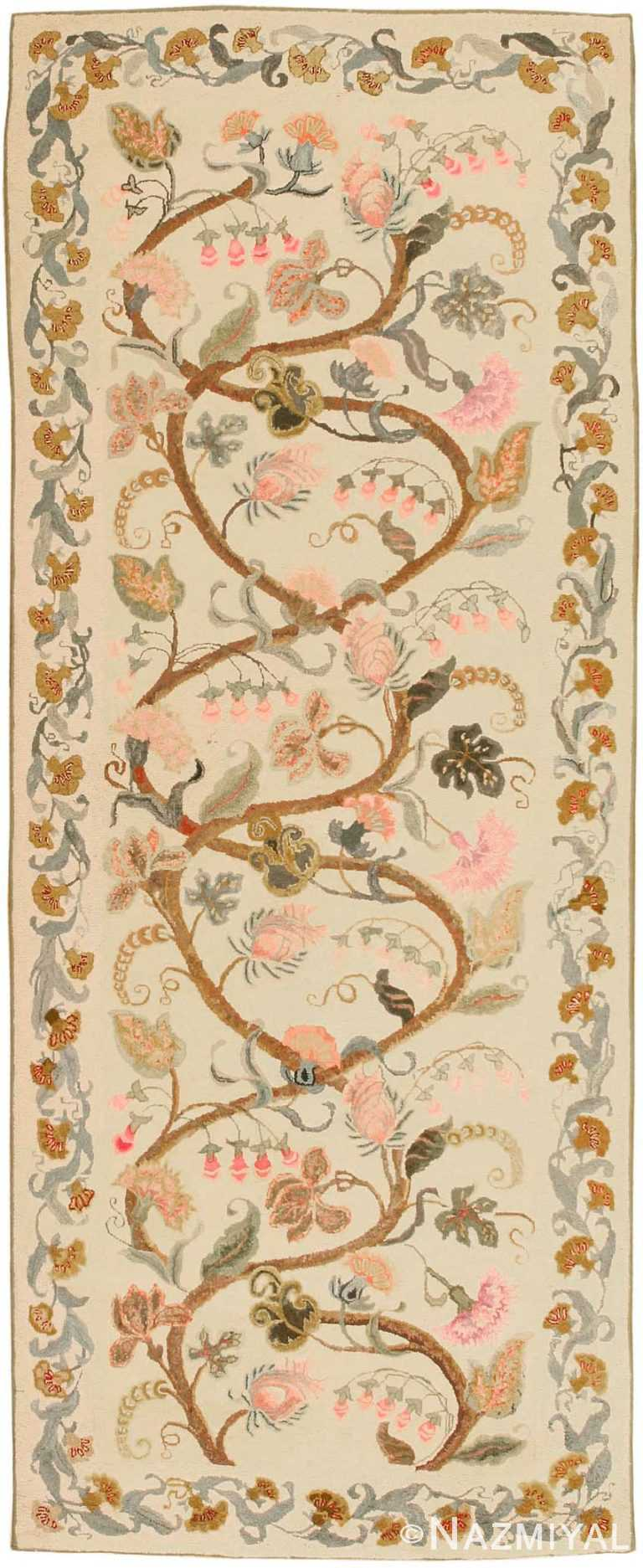 Antique Hooked American Rug 2694 Nazmiyal