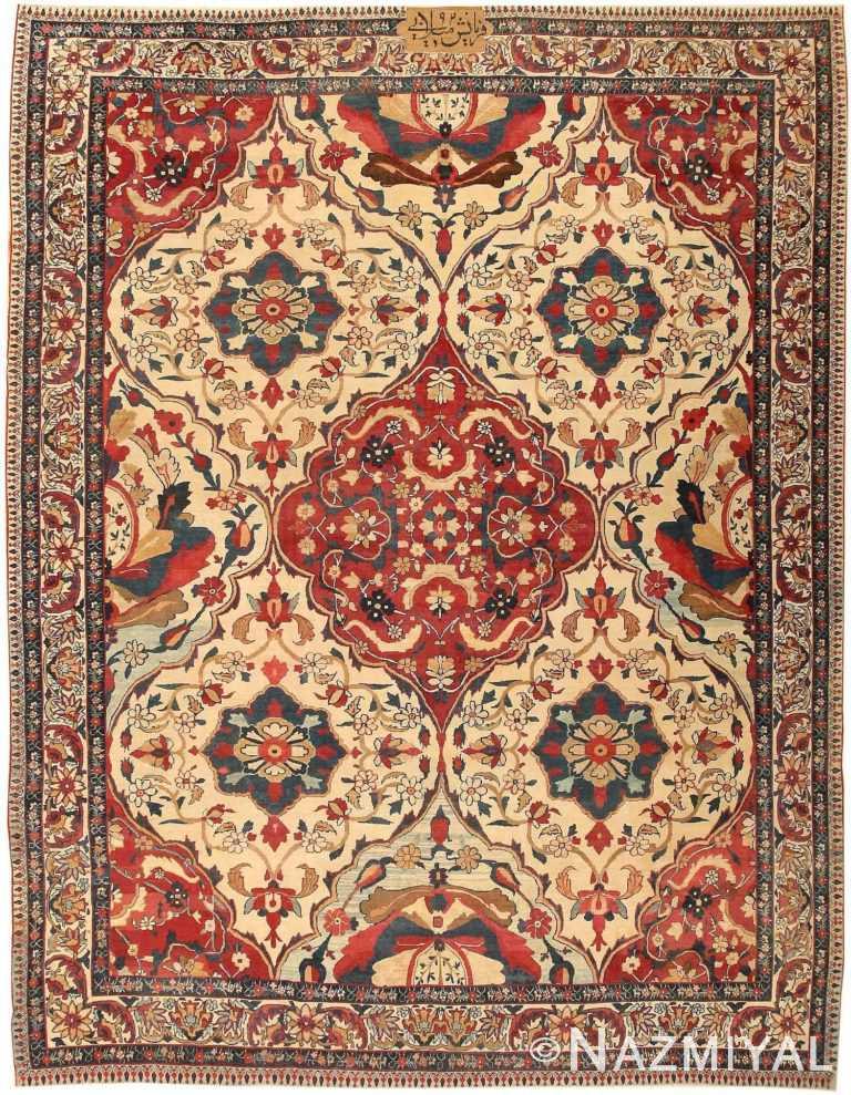 Antique Kerman Persian Rug 1817 Nazmiyal