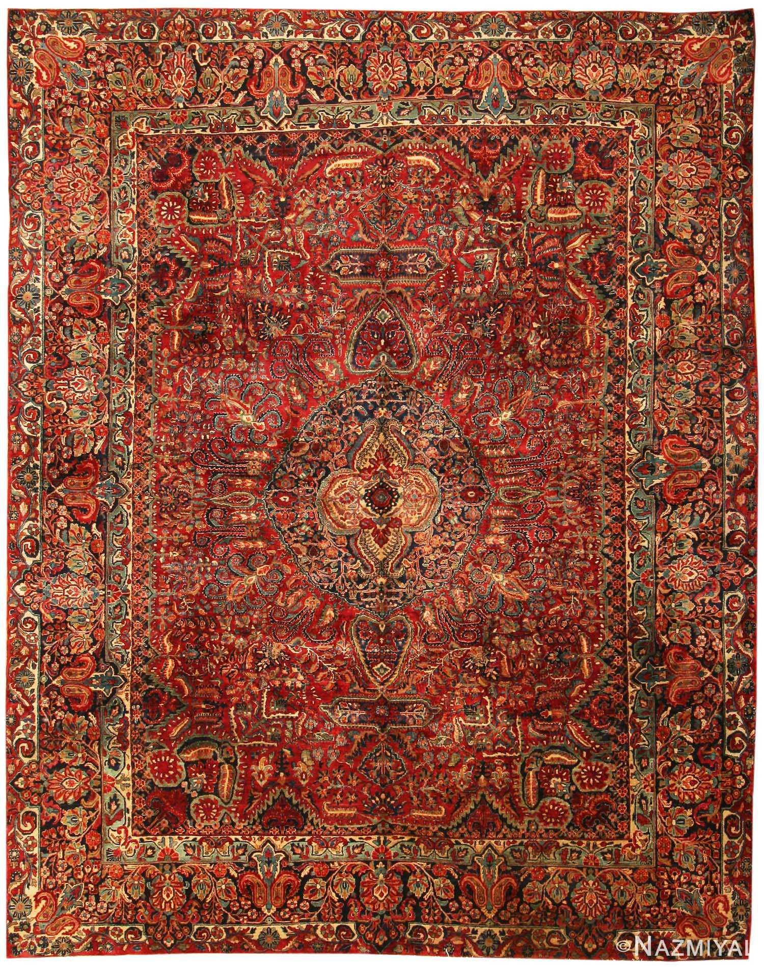 Antique Sarouk Persian Rug 43559 Nazmiyal Collection