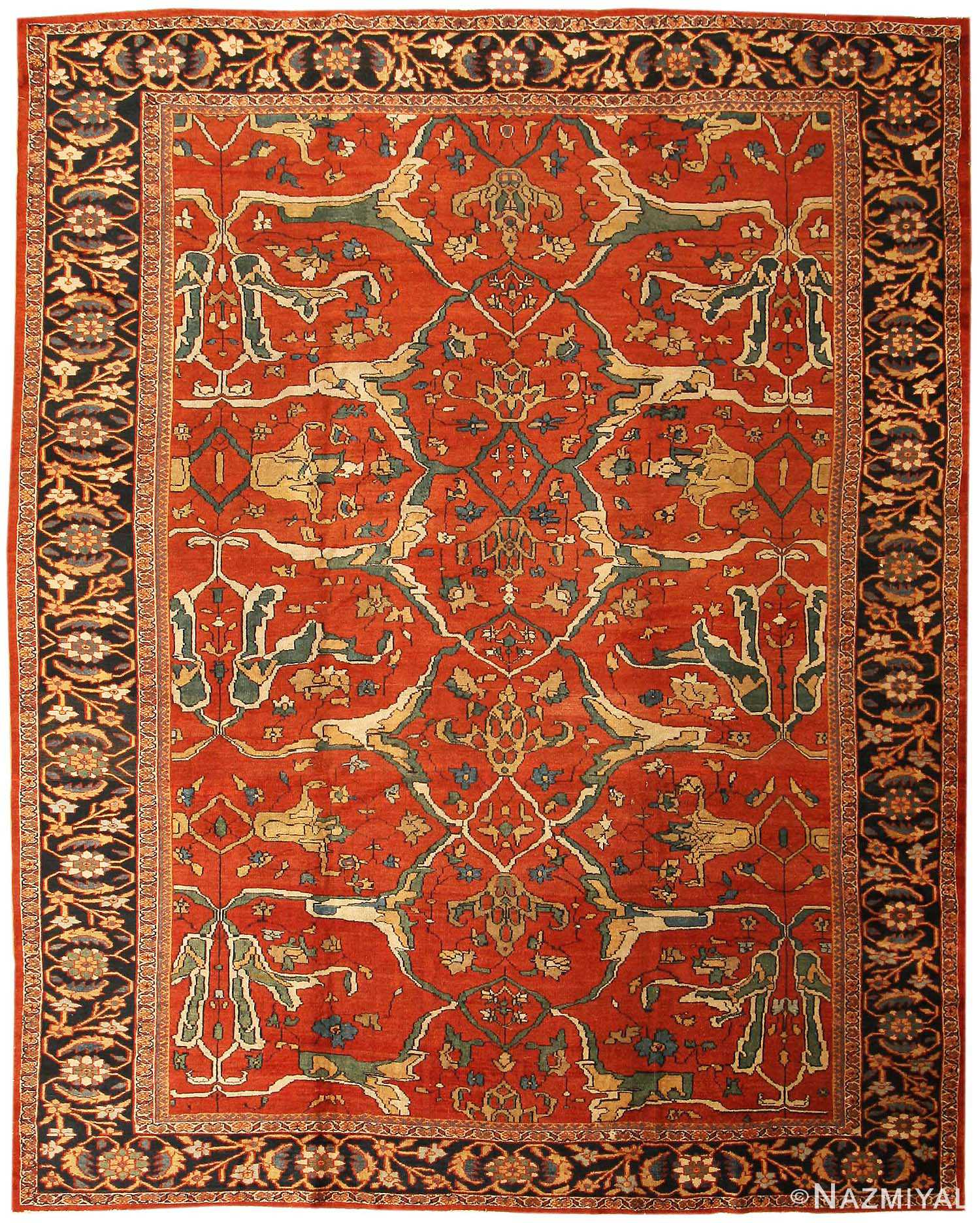 Antique Persian Sultanabad Rug 43442 Nazmiyal Rugs
