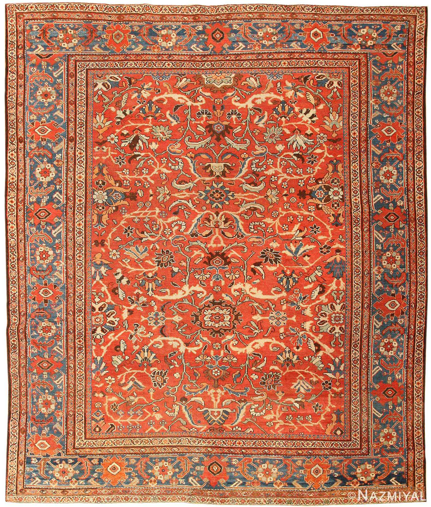 Antique Persian Sultanabad Rug 43458 By Nazmiyal
