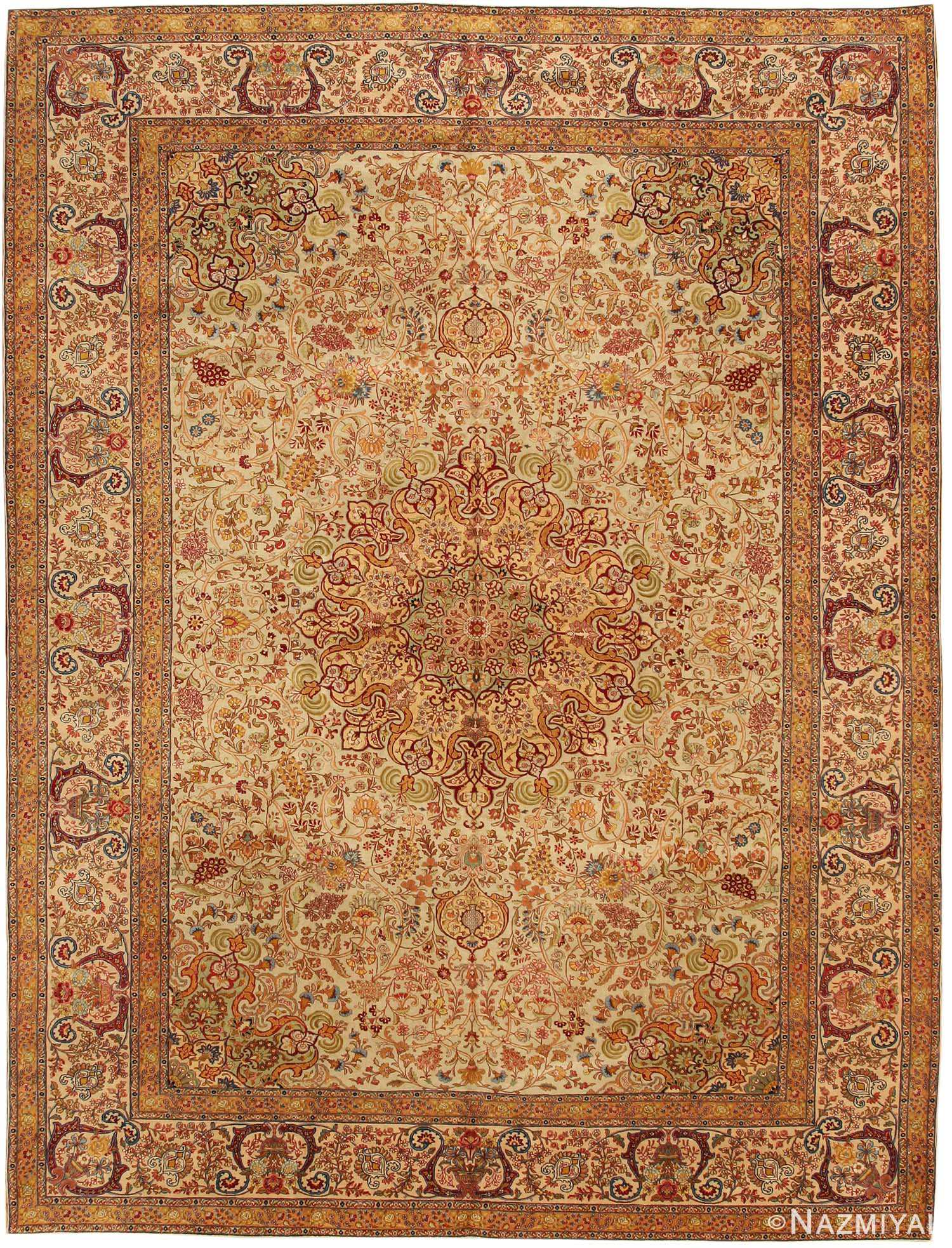 Tabriz Rug Antique Persian Carpet 7993 By Nazmiyal Nyc
