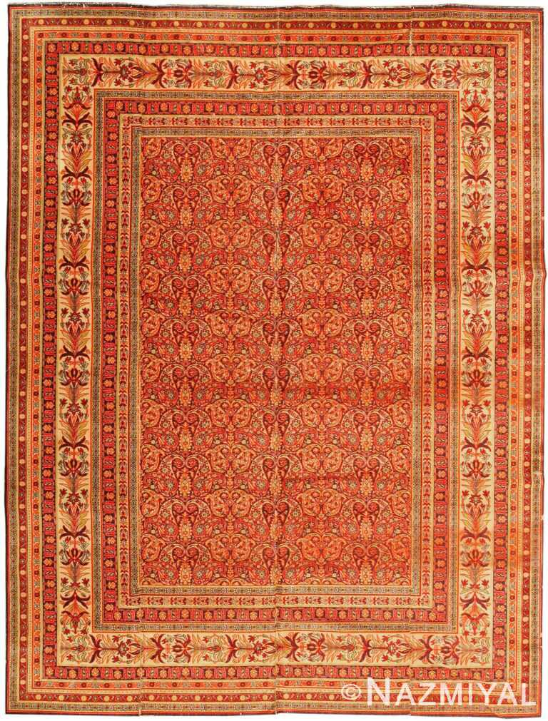 Antique Wilton English Carpet 1341 Nazmiyal