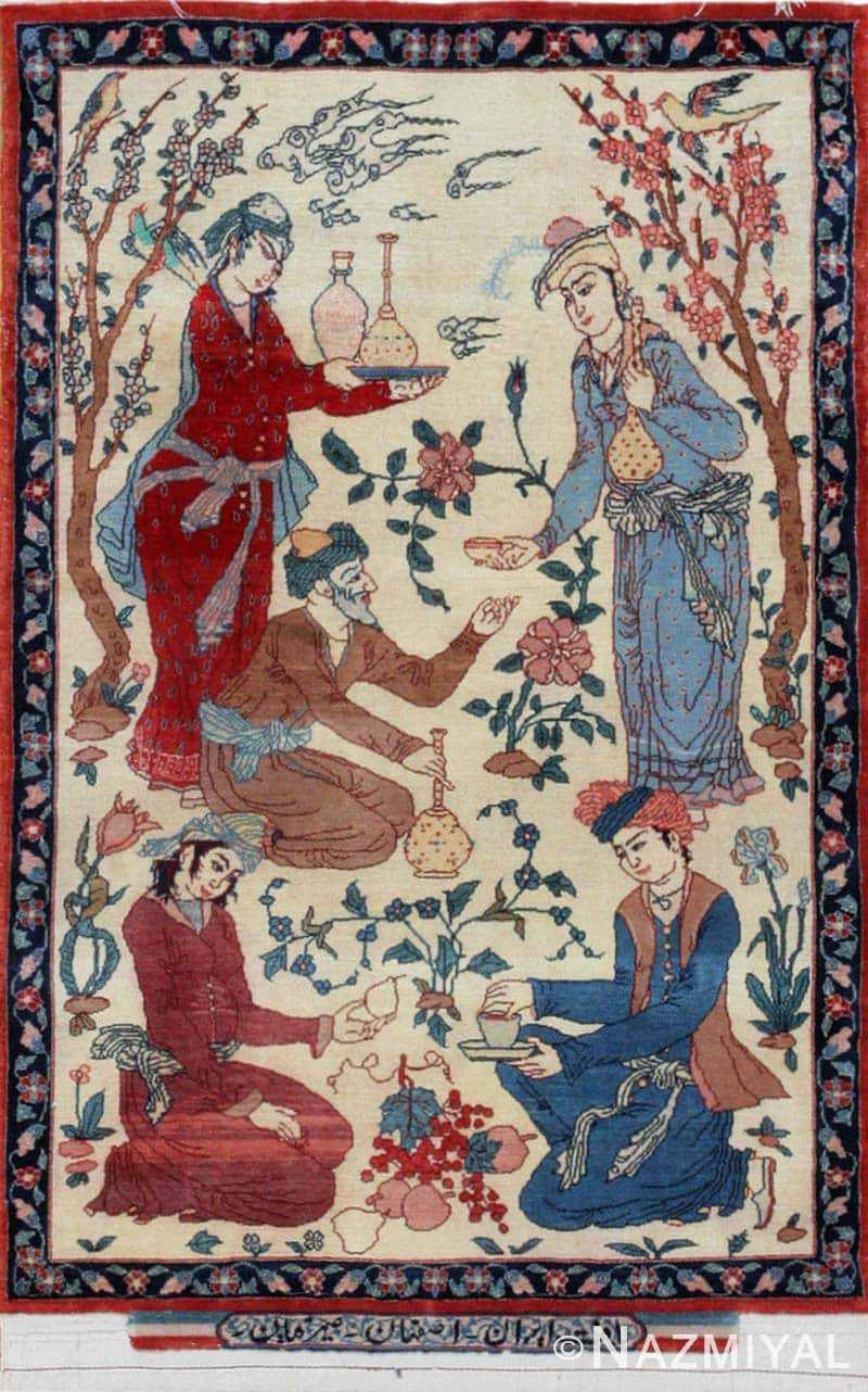 Vintage Esfahan Persian Rug 43387 Nazmiyal