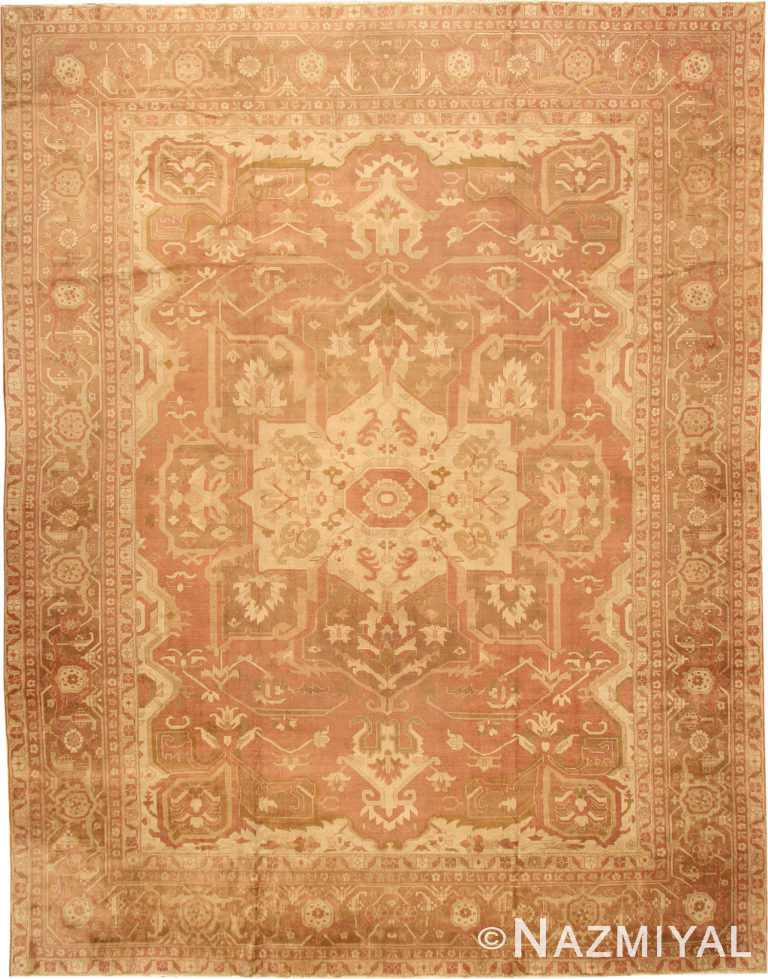 Large Persian Heriz Design Antique Indian Amritsar Rug #41047 by Nazmiyal Antique Rugs