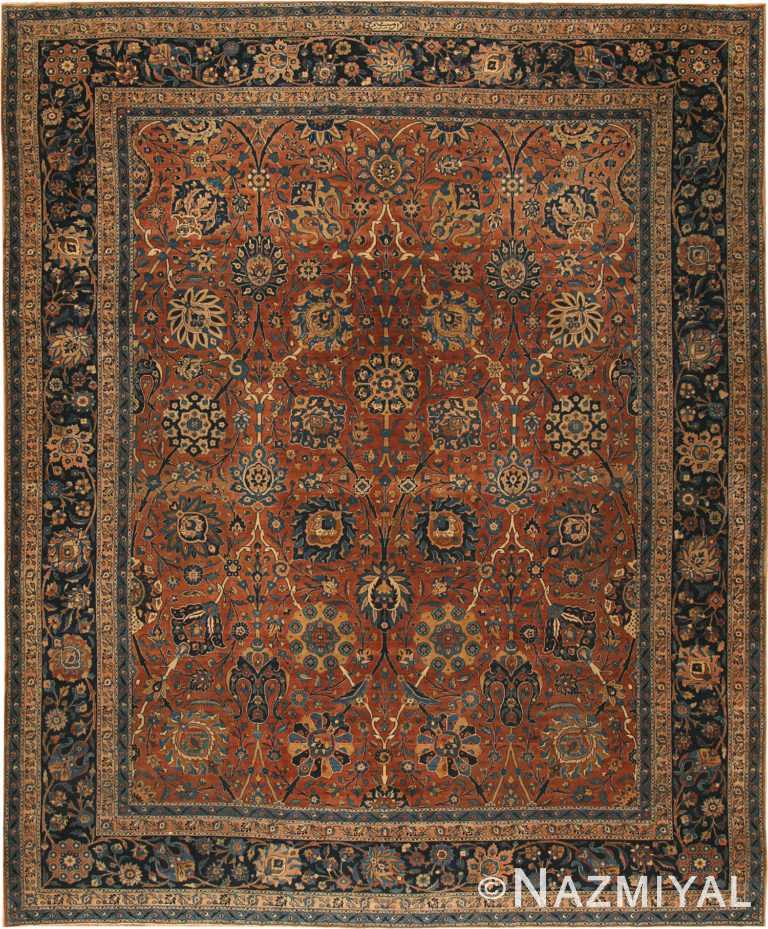 Antique Kerman Persian Rug 42465 Nazmiyal