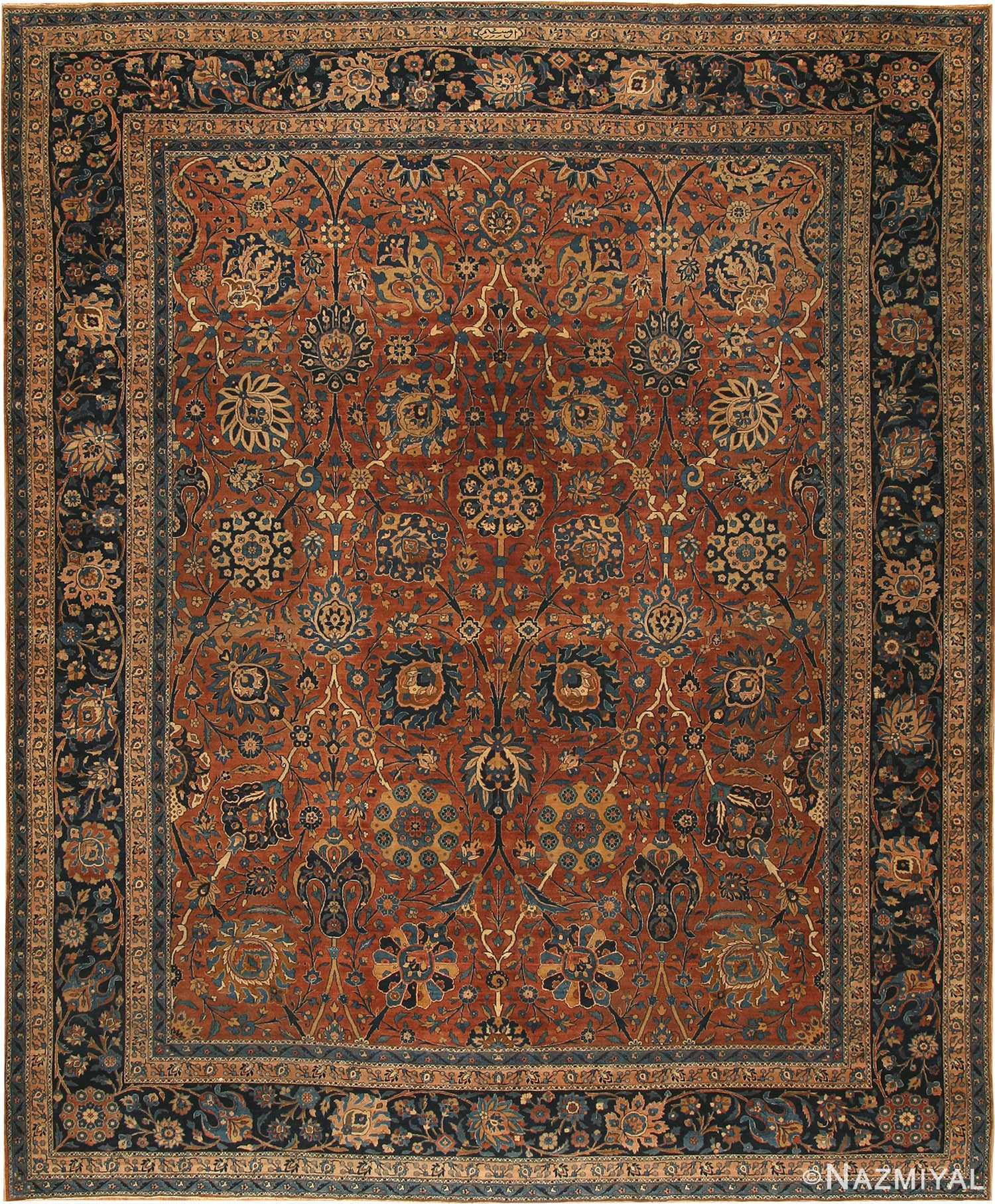 Antique Kerman Persian Rug 42465