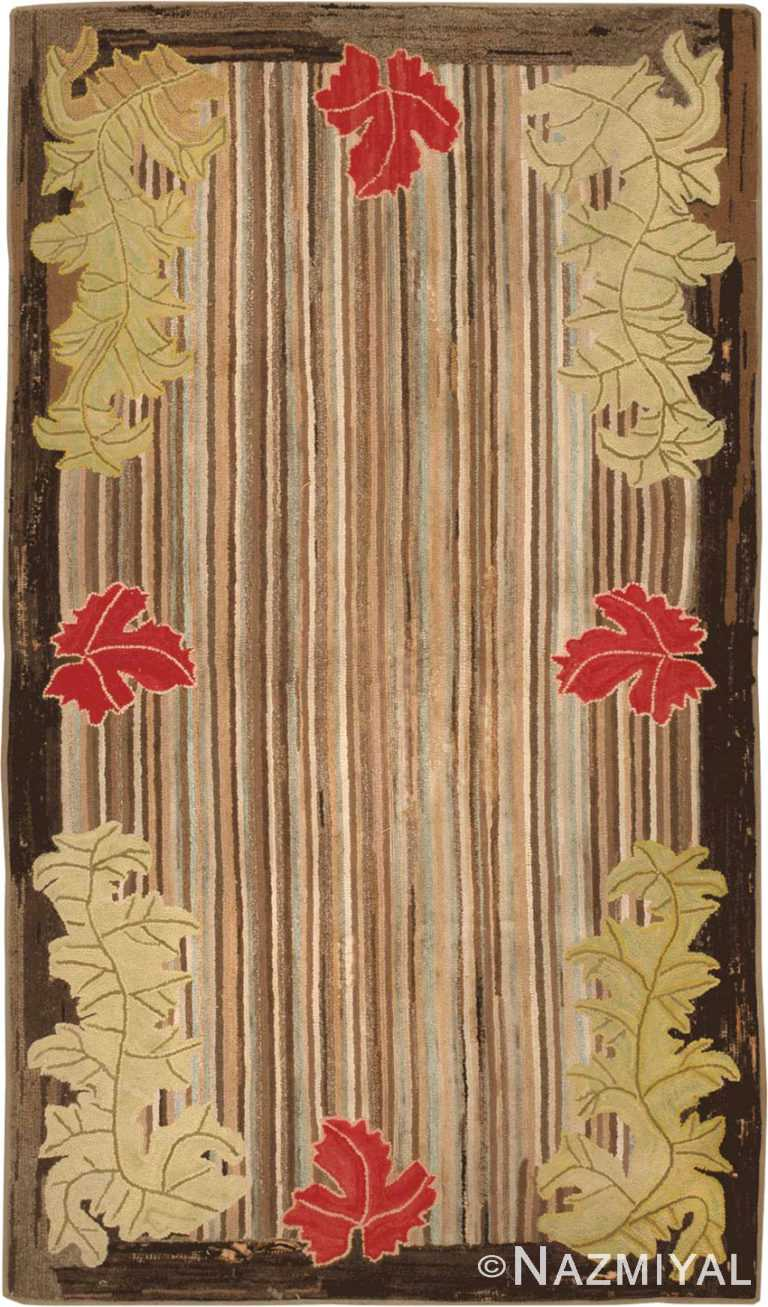 Antique Hooked American Rug #2696 by Nazmiyal Antique Rugs