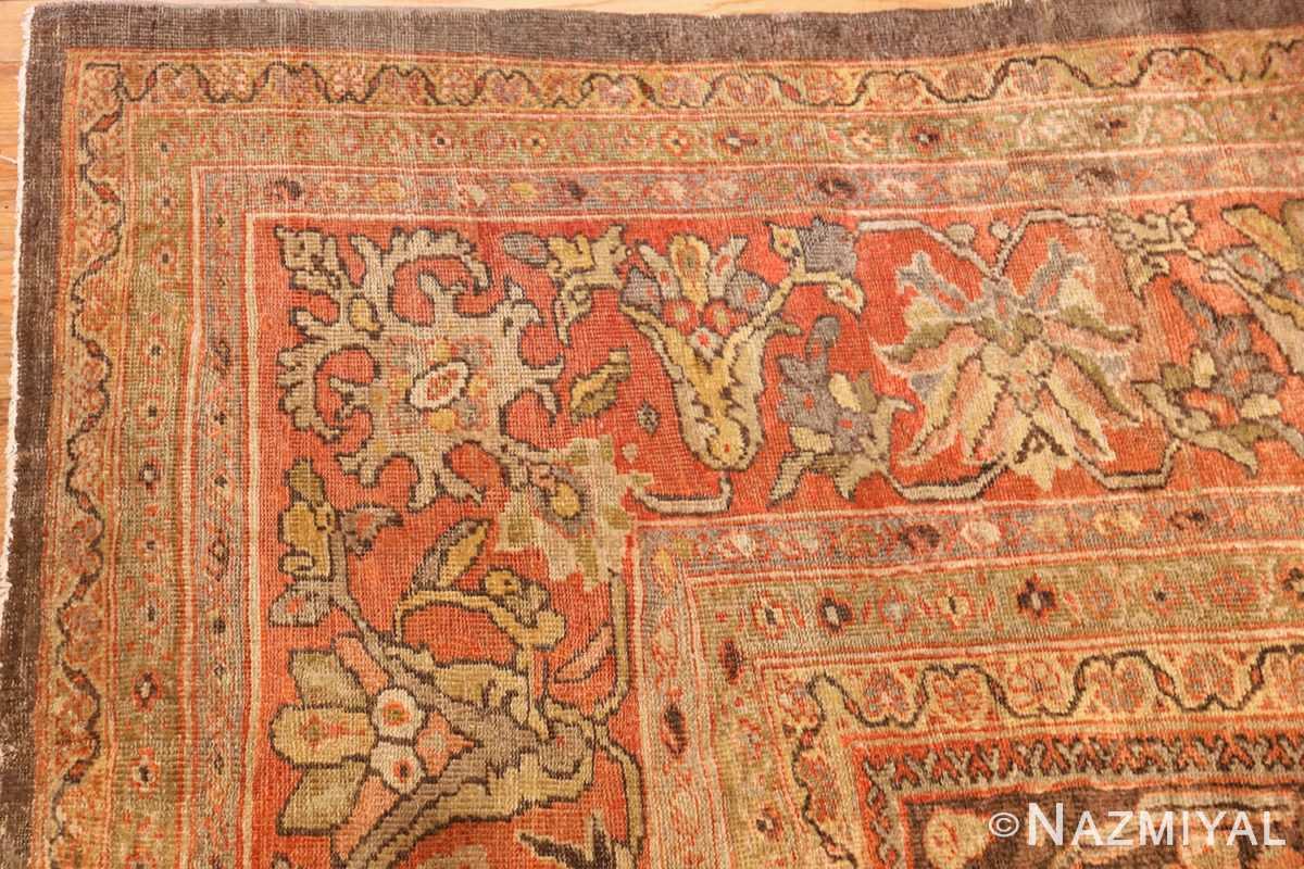 antique sultanabad rug 44653 corner Nazmiyal