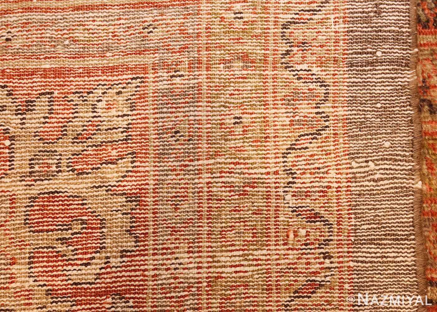 antique sultanabad rug 44653 weave Nazmiyal
