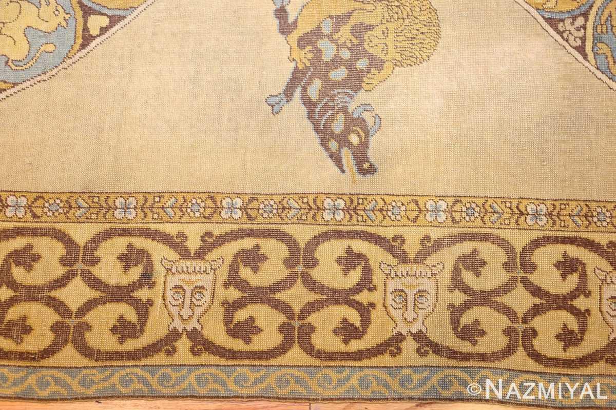 antique turkish tuduc rug 45077 border Nazmiyal