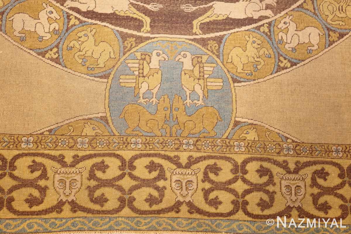 antique turkish tuduc rug 45077 eagle Nazmiyal