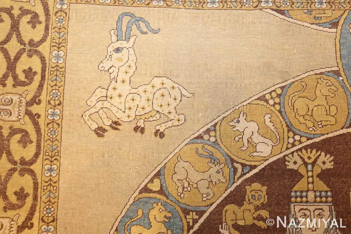 antique turkish tuduc rug 45077 goat Nazmiyal