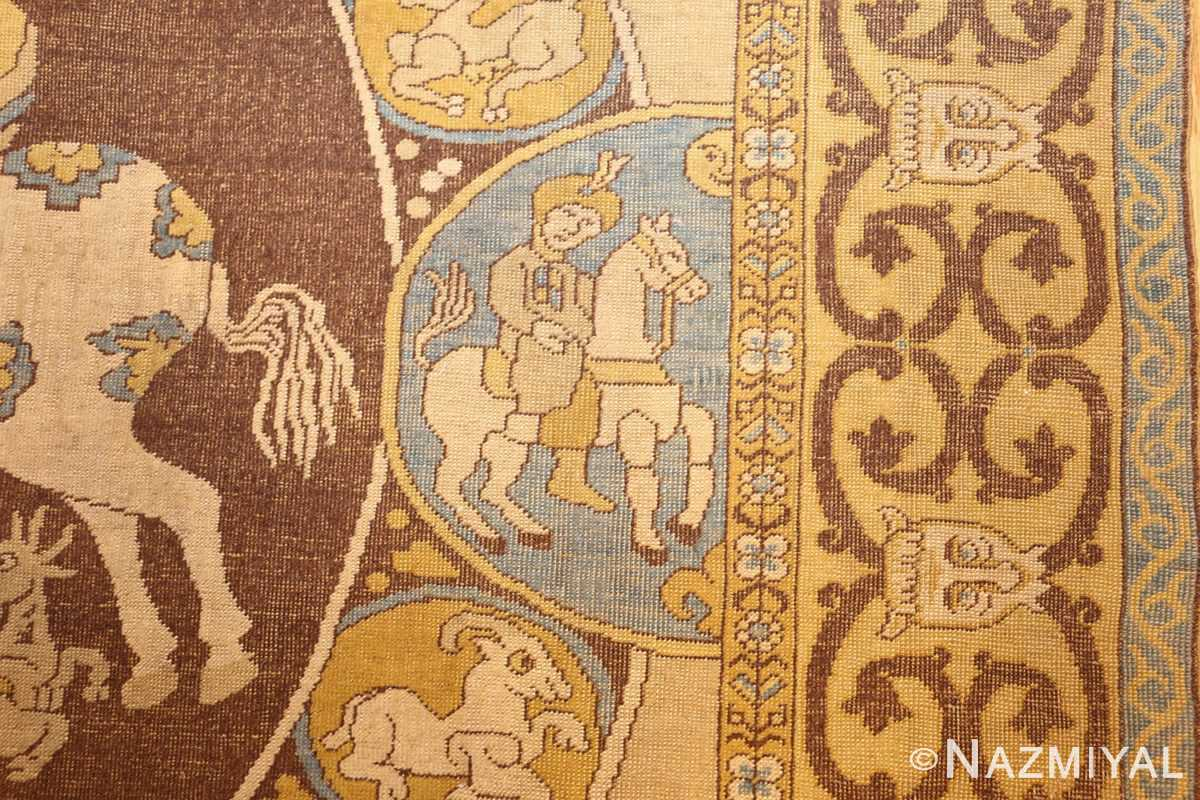 antique turkish tuduc rug 45077 horseman Nazmiyal