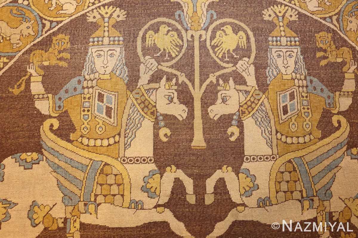 antique turkish tuduc rug 45077 kings Nazmiyal