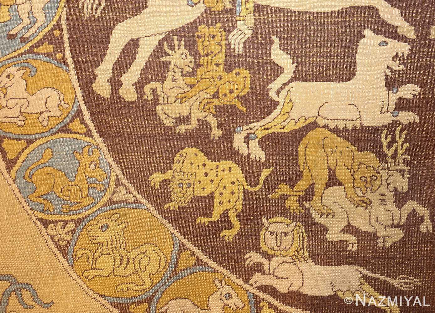 antique turkish tuduc rug 45077 tiger Nazmiyal