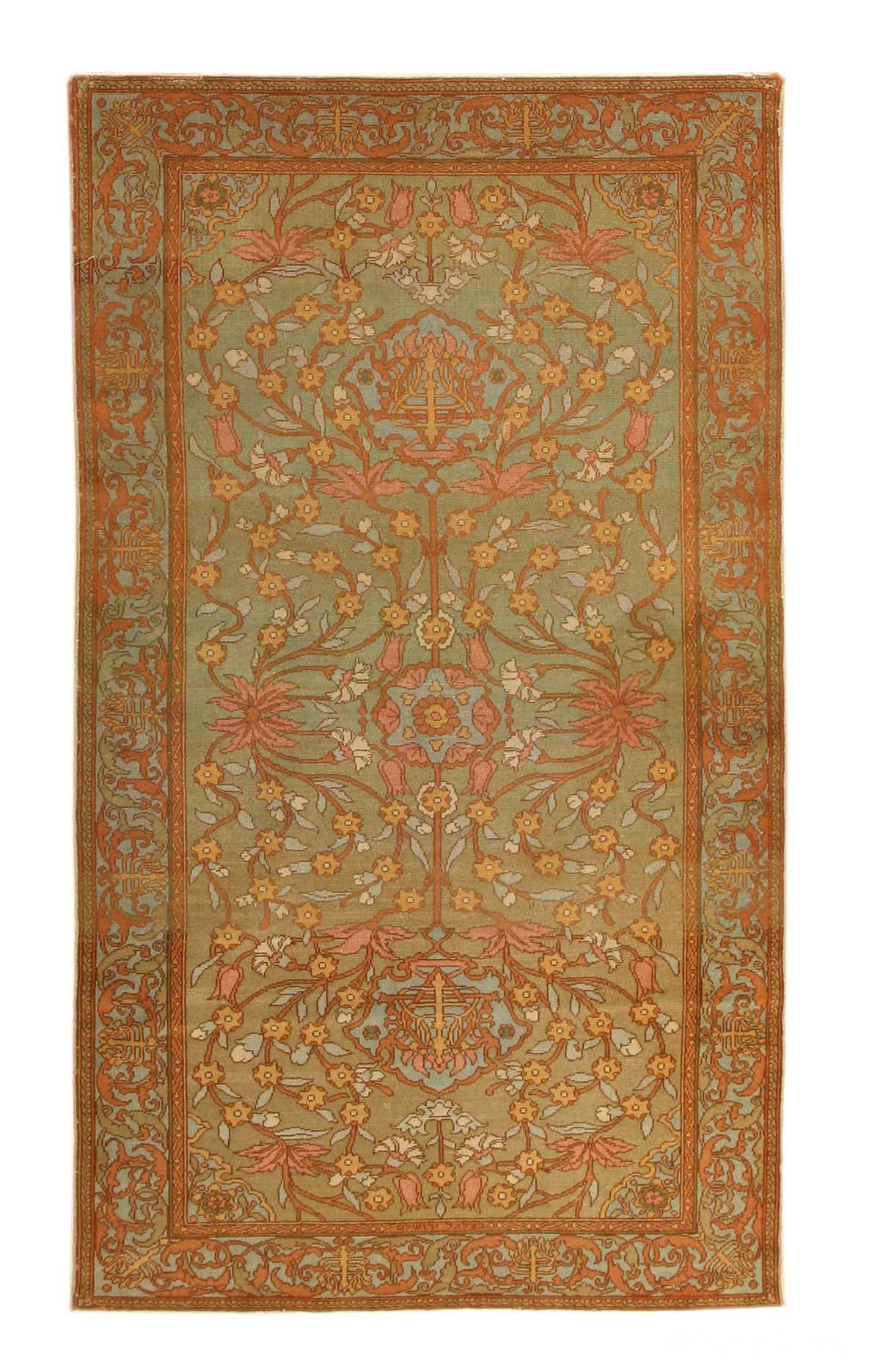 Antique Israeli Bezalel Rug 8514 Nazmiyal