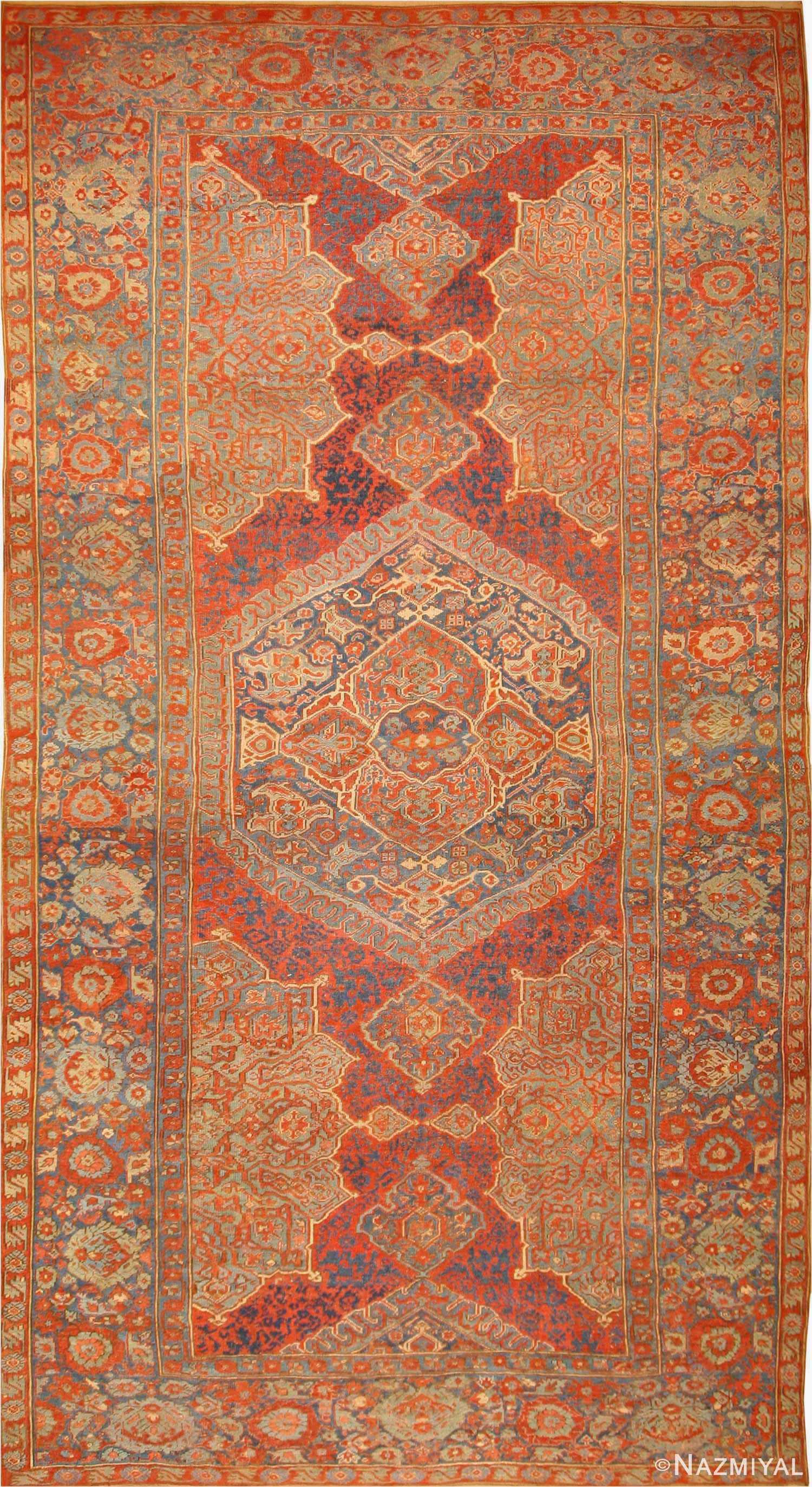 Elegant Antique Oushak Turkish Rug 40418 Nazmiyal