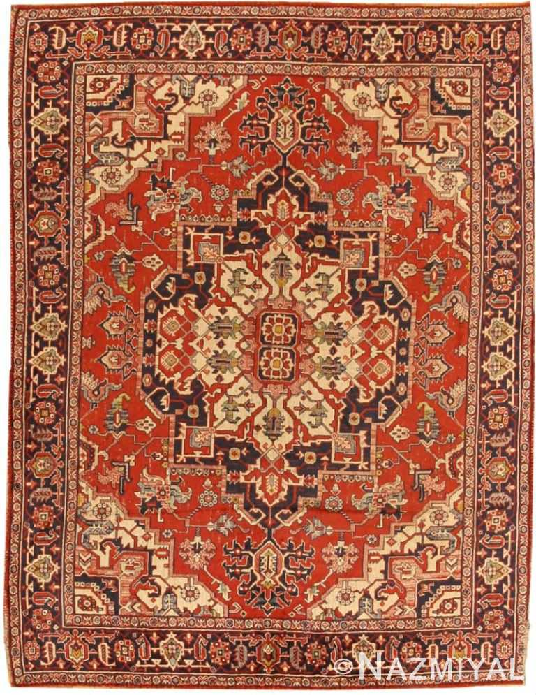 Antique Heriz Serapi Persian Rug 2685 Nazmiyal