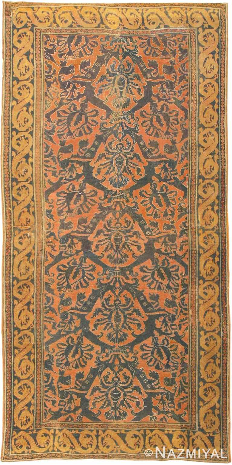 Antique 16th Century Alcaraz Oriental Rug 3288 Nazmiyal