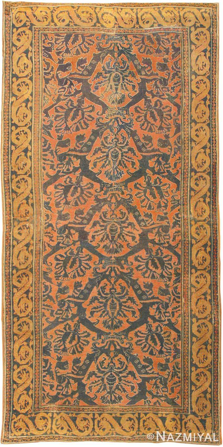 Antique 16th Century Alcaraz Oriental Rug 3288 Nazmiyal