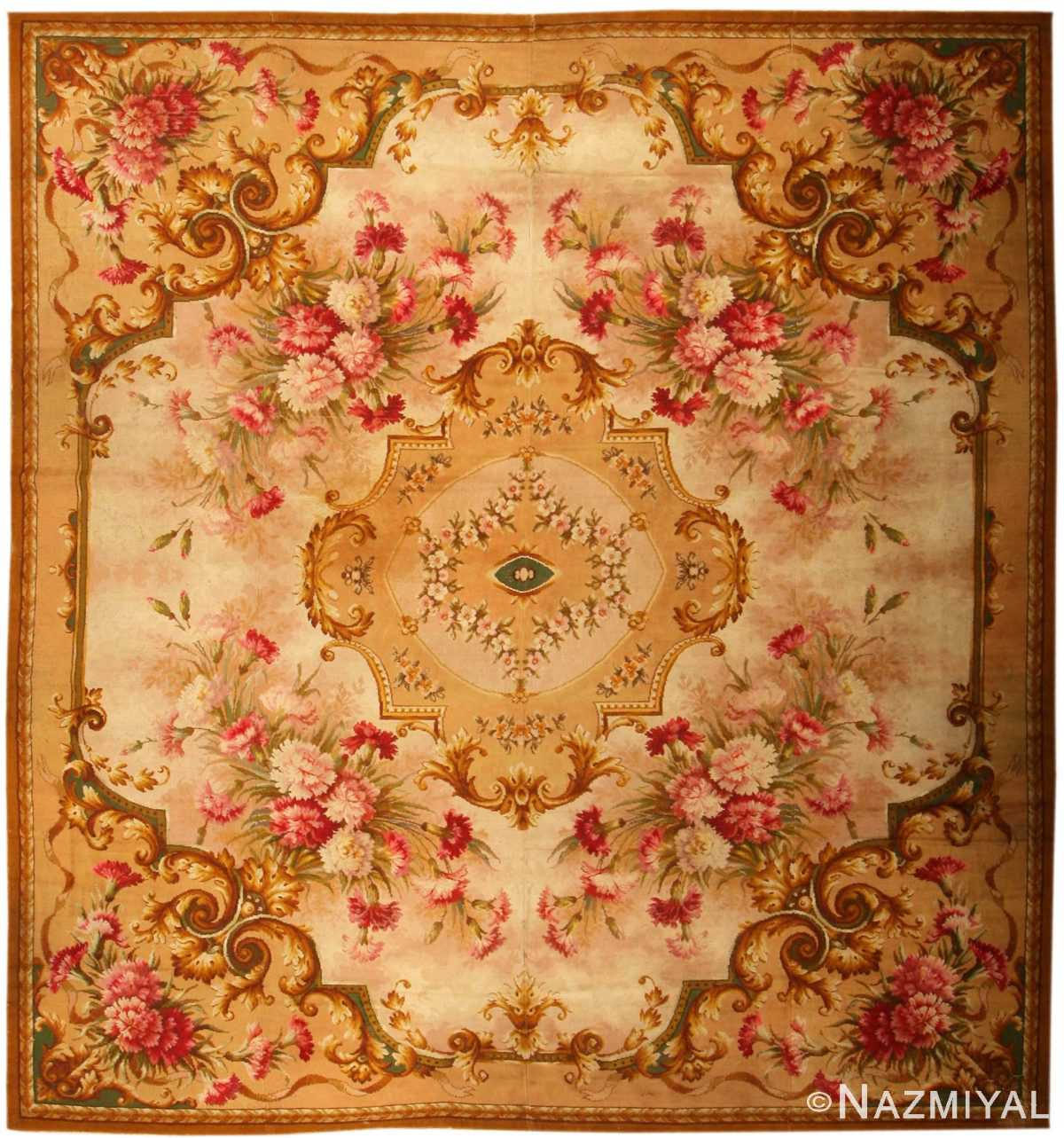 Antique Axminster English Rug 2409 Nazmiyal