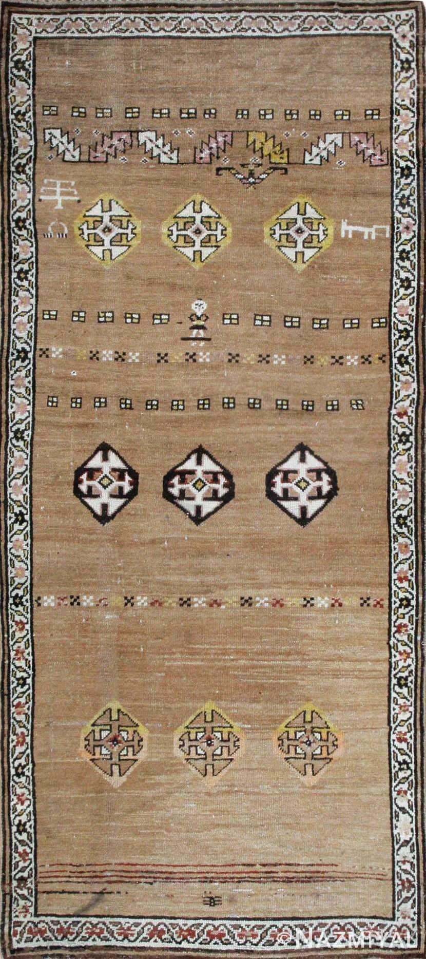Antique Bakshaish Persian Rug 44150 Nazmiyal