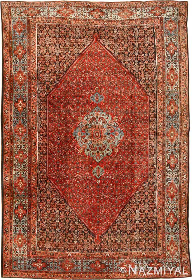 Antique Bidjar Persian Rug 42158 Nazmiyal