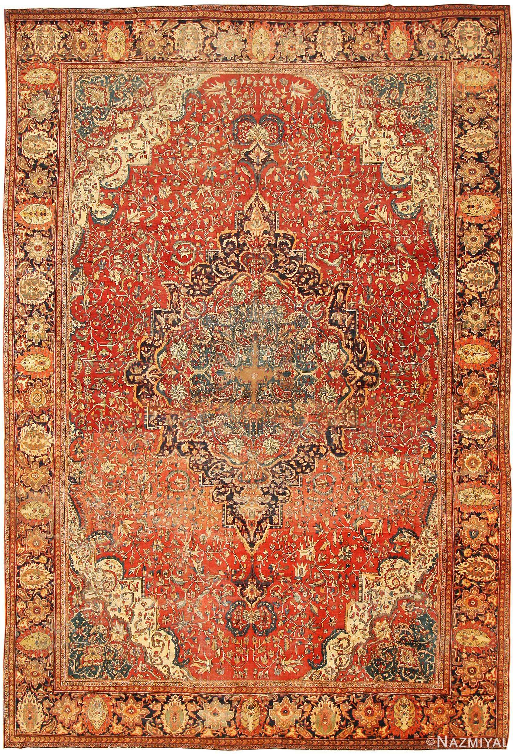 Persian rugs Purple Antique Sarouk Farahan Persian Rug 43328 Nazmiyal Antique Rugs Antique Sarouk Farahan Persian Rug 43328 Nazmiyal Collection