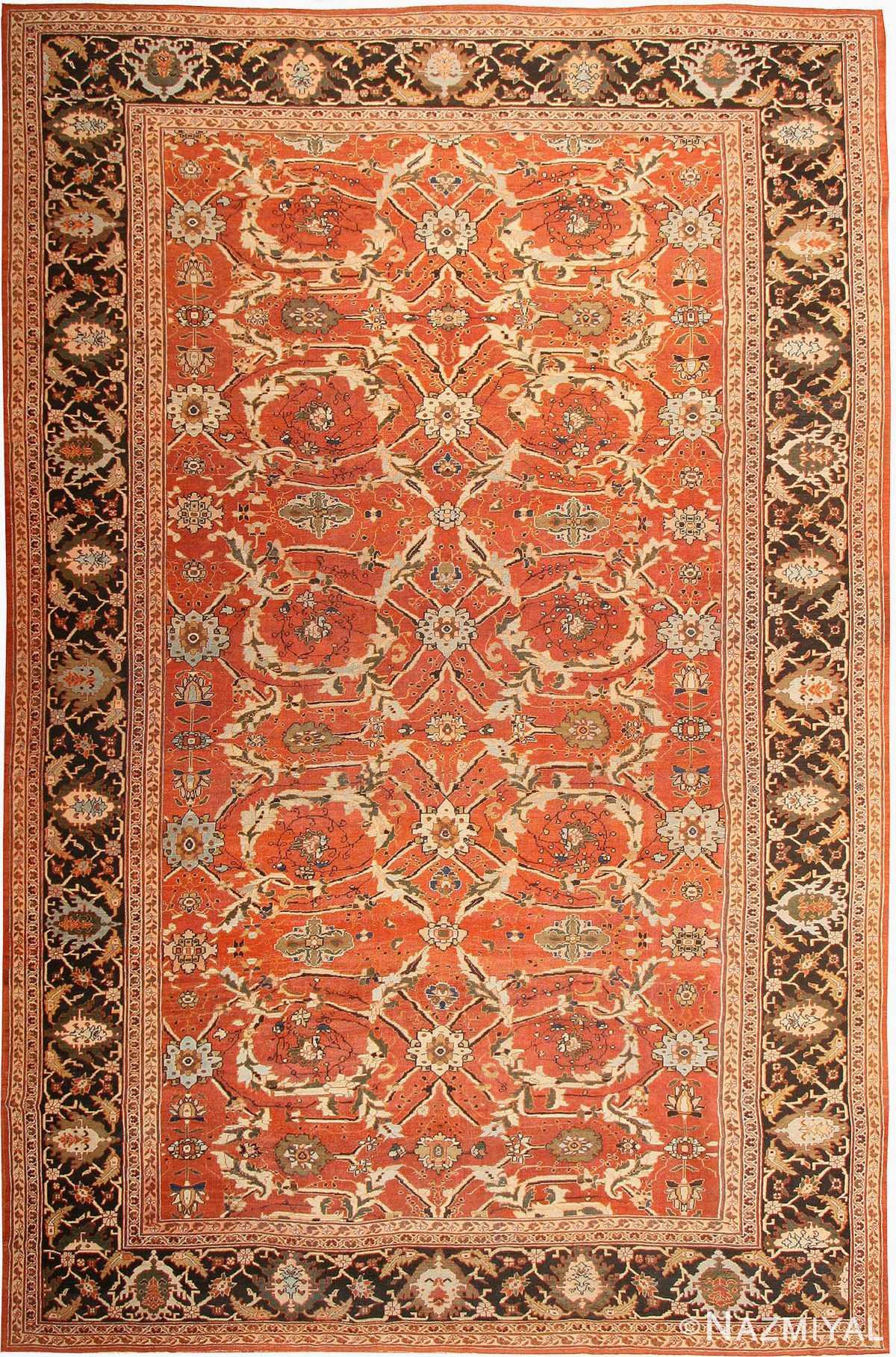 Antique Sultanabad Persian Rug 42746 Nazmiyal