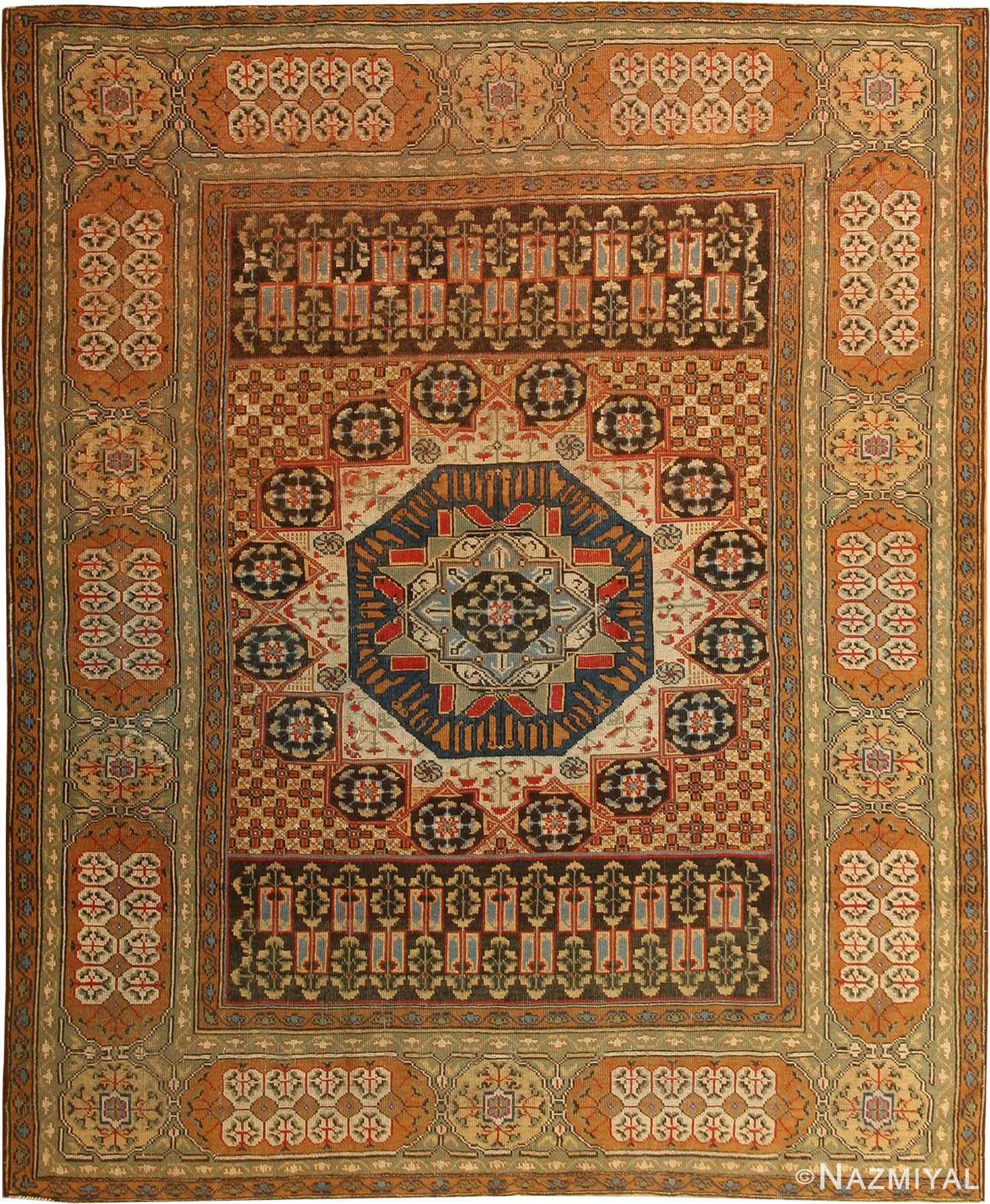 Antique Turkish Tuduc Mamluk Rug 42865 By Nazmiyal NYC