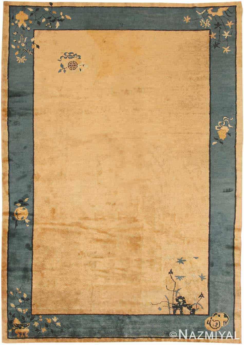 Antique Chinese Oriental Carpet 7614