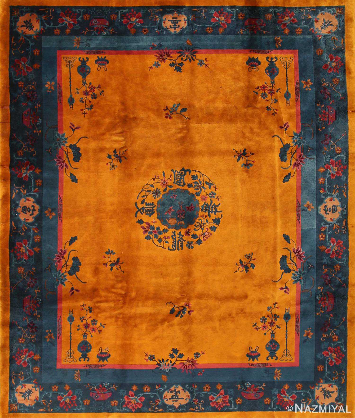 Antique Art Deco Chinese Rug 43747 Nazmiyal Antique Rugs