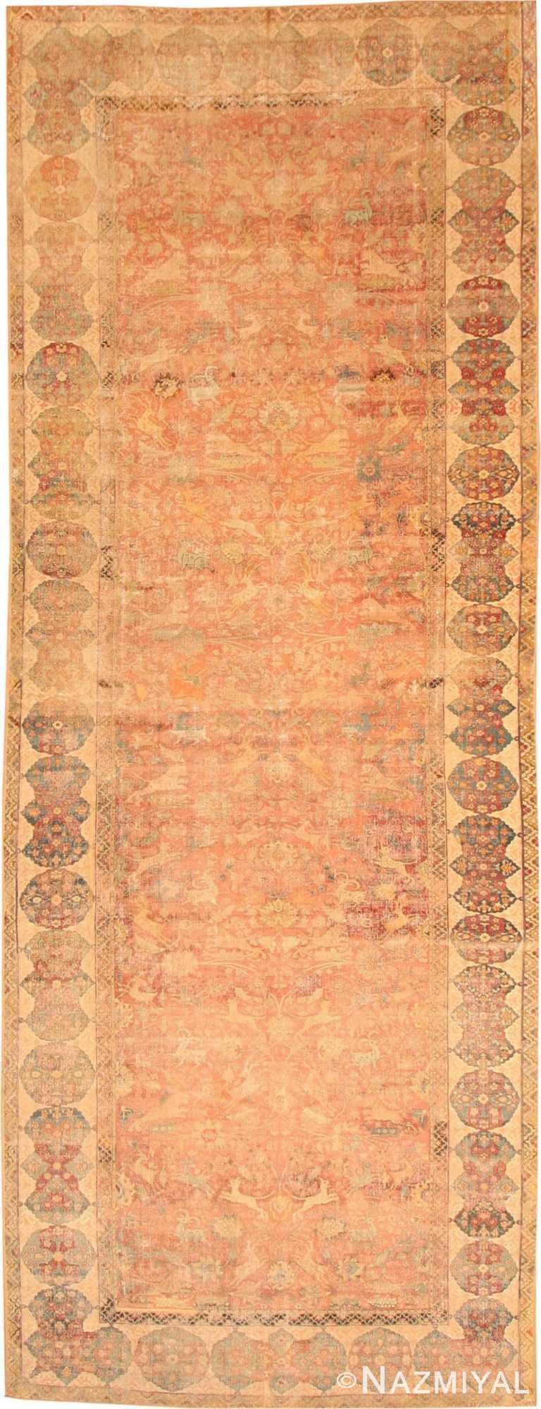 Antique 17th Century Esfahan Persian Rug 3338 Nazmiyal