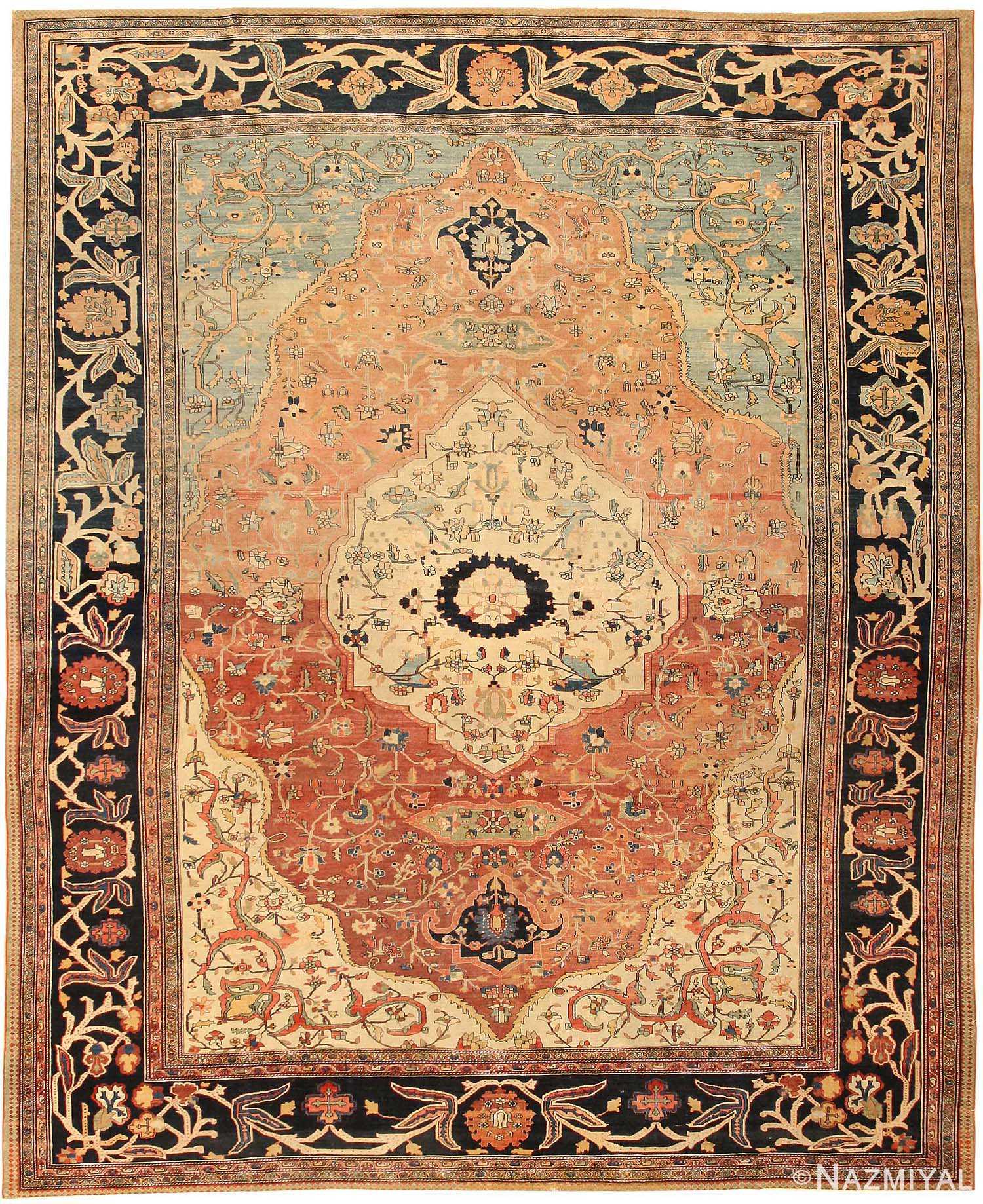 Vintage Persian Rugs: Antique Sarouk Farahan Persian Rug 43371